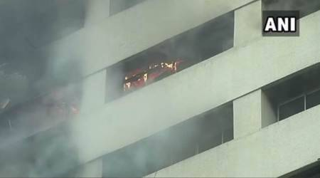 Fire breaks out at central Kolkata building, SBI office gutted