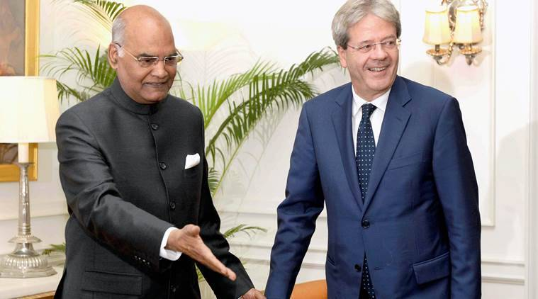 Ram Nath Kovind, India President, Prime Minister Paolo Gentiloni, India-Italy relationship, India economy, GST, Italy investment, Italy technology, India-Italy economic partnership, Italy design capital,