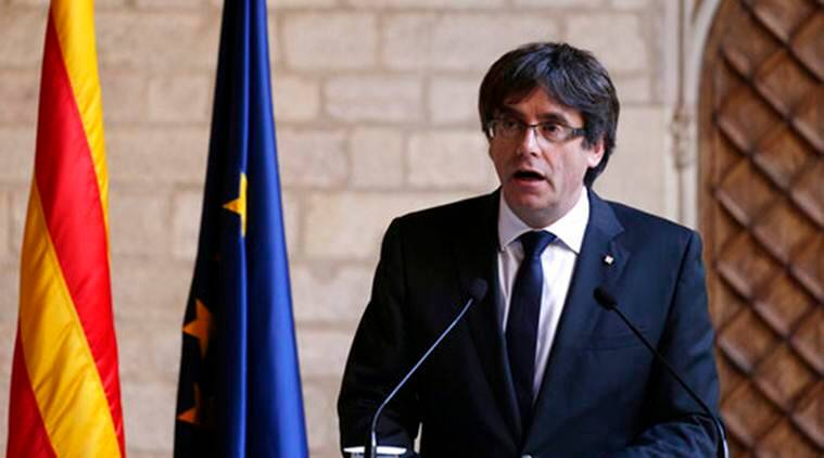 Carles Puigdemont, catalonia, Spain catalonia dispute, Prime Minister Mariano Rajoy, Spanish government on Catalonia independence, llistaunitaria.cat, eurpoe news, world news, indian express news
