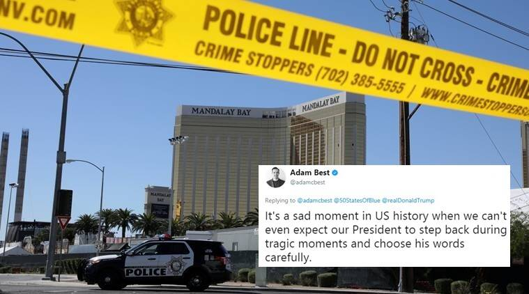 donald trump, las vegas shooting, las vegas trump miracle, donald trump calls las vegas attack miracle, donald trump on las vegas, donald trump las vegas shooting, indian express, indian express news