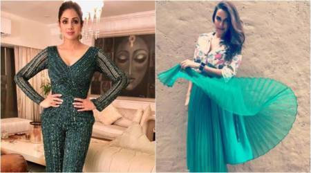 Sridevi or Neha Dhupia: Whose look would get the green signal from fashion critics?