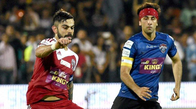 all stars fc vs all hearts fc live celebrity clasico virat kohli and ranbir kapoor will be featuring in the match