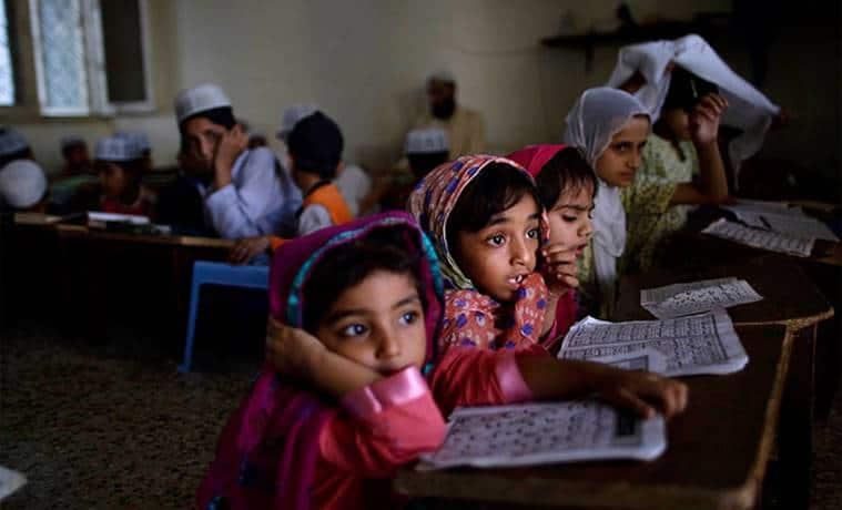 ncert, up schools, up education, ncert books, madrassa, up madrassa, up school education, education news, indian express