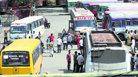 Maharashtra transport workers on strike: Day after warning, police evict 350 striking workers from Vallabhnagar busdepot