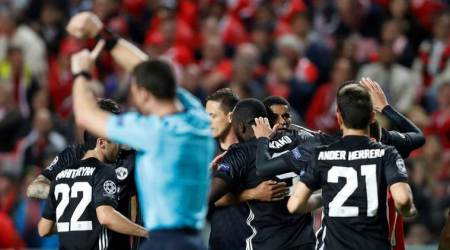 benfica vs manchester united, manchester united results, uefa champions league, marcus rashford, football news, indian express