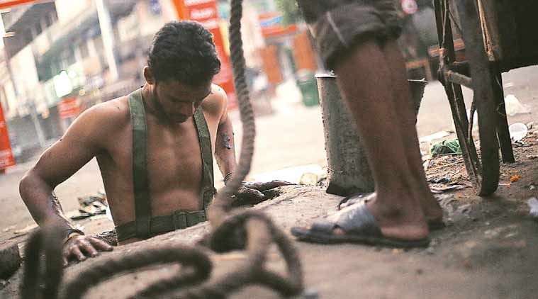 Swachh Bharat, Swachh Bharat Abhiyan, manual scavengers, sewer deaths, sanitation workers, Swachh Bharat anniversary, indian express news