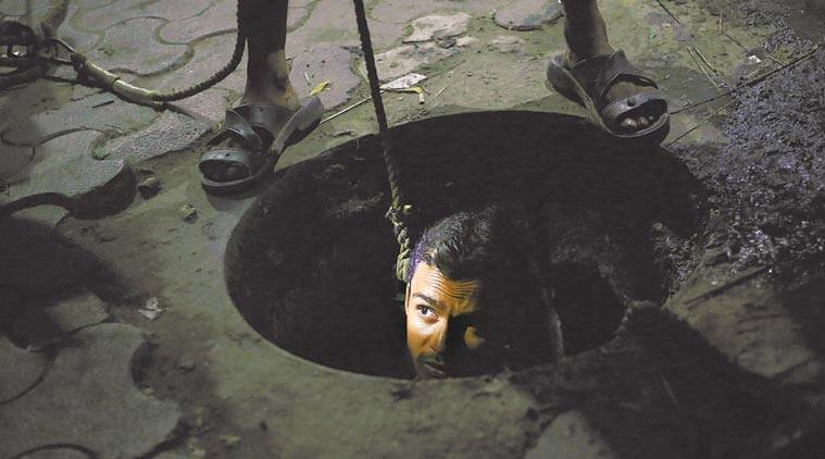 manual scavenging act, sewage cleaners death, sewage workers, manual scavengers, sewer deaths, sanitation workers, indian express