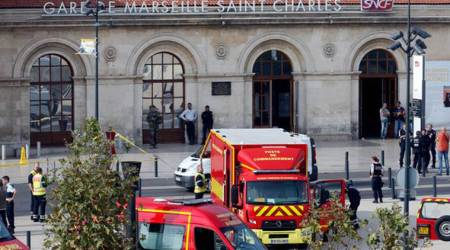 Marseille train station knife attack: Man shouting 'Allahu Akbar' kills two before being shot dead