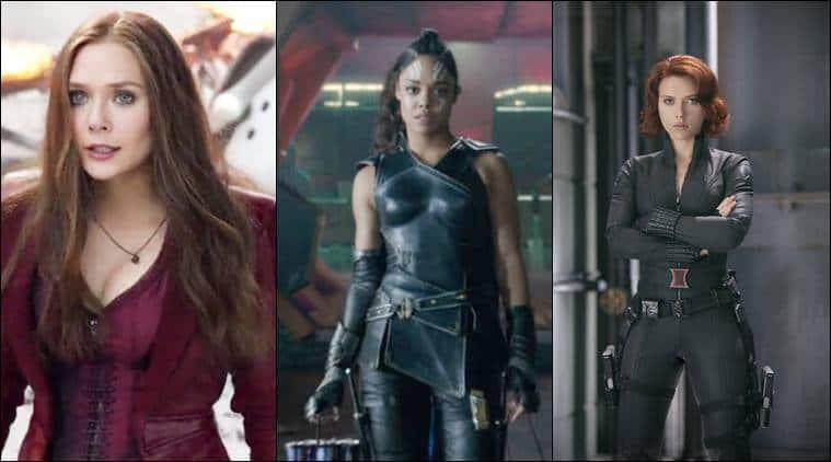 tessa thompson, Scarlett Johansson, Elizabeth Olsen, valkyrie, black widow, scarlet witch,