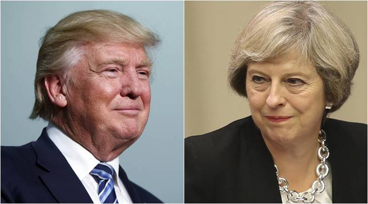 Trump's Brtain vist Donald Trump's Britain visit US President Donald Trump Prime Minister Theresa May World news Latest news International news