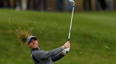 Rory McIlroy shoots 64, moves into contention at British Masters