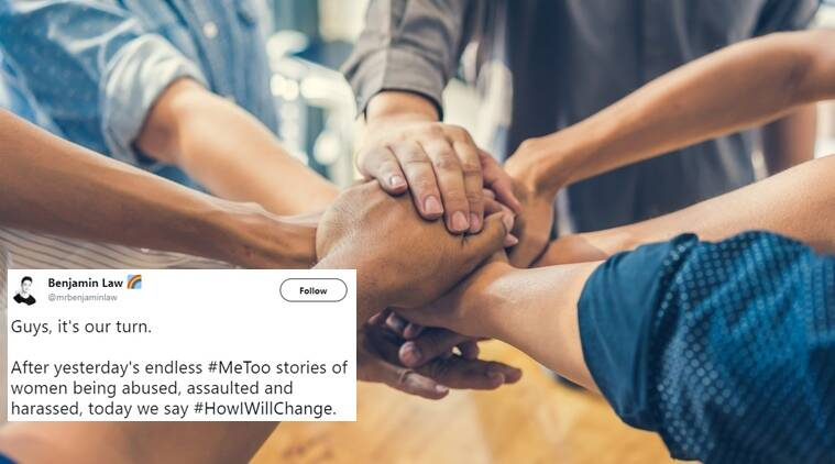 me too, me too hashtag, mee too viral, me too viral stories, how i will change, #howiwillchange, #HowIwillchange hashtag trending, men on twitter #howIwillchange, indian express, indian express news