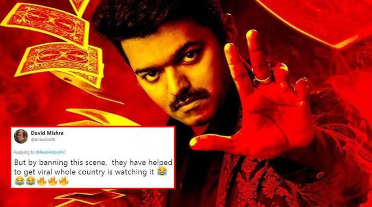 GST, GST bill, GST bill Twitter reactions, BJP ban to GST scene, Tamil film Mersal, Tamil actor Vijay, Mersal GST scene, Mersal GST viral video, GST reactions, Tamil Nadu BJP, indian express, indian express news