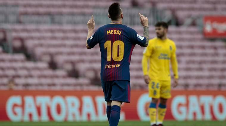 Lionel Messi, Barcelona, Barcelona boss Ernesto Valverde, La Liga, Barcelona vs Atletico Madrid, Football news, Indian Express