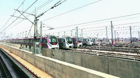 Metro magenta line likely to open soon: A first-of-its-kind elevated stabling yard at Jasola Vihar