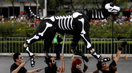 In burgeoning Day of the Dead parade, Mexico remembers earthquake casualties