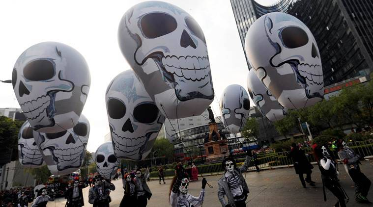 Mexico, Mexico day of dead, Day of Dead parade, Mexico city, Mexico earthquake, world news, indian express news