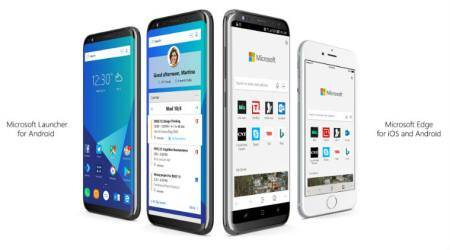 Microsoft Edge browser comes to Android and iOS; Launcher for Android