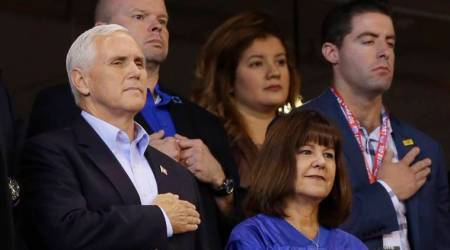 Mike Pence leaves NFL game after players kneel during anthem
