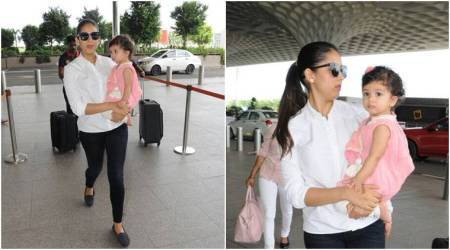 Misha and Mira are making heads turn at the airport, but where is Shahid Kapoor?