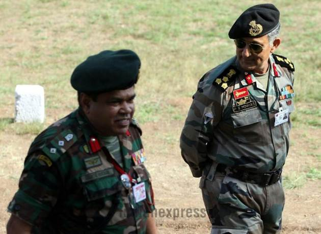 indian army photos, indian army pics, military exercise images, india sri lanka joint military exercise pics, mitra shakti images, india-srilanka, sri lanka army uniform photos, sri lankan army images, terrorism, counter terrorism, pune mitra shakti, mitra shakti pune, indian express photos