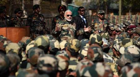 PM Narendra Modi celebrates Diwali with troops in Gurez