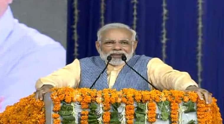 Narendra Modi, Modi in Gujarat, PM Narendra Modi in Gujarat, Modi Vadodara, Modi Gujarat visit, Gujarat elections, Vadodara, Bhavnagar, ro-ro ferry service, Modi Gujarat, indian express
