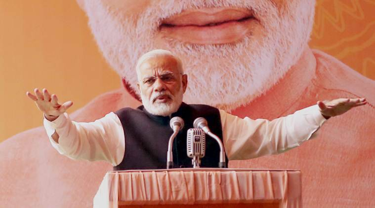 narendra modi, modi in karnataka, modi on kashmir, modi reacts to Chidambaram on Kashmir, P Chidambaram remarks on Kashmir, Arun jaitley, Smriti Irani, bjp, bjp karnataka, modi karnataka live updates, mangaluru, swami manjunath temple, modi karnataka visit, modi bengaluru, bjp, karnataka bjp, siddaramaiah, india news, indian express