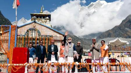 In Kedarnath, PM Modi pledges to devote himself for a 'developed India' by2022