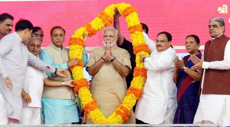 Narendara Modi, PM Modi, PM Modi in Gujarat, Modi Gujarat visit, Modi Vadnagar visit, india news, indian express news