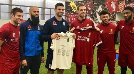 Moeen Ali, James Anderson meet Liverpool stars at Anfield, see pics