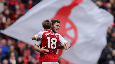 Arsenal maintain perfect home record with 2-0 win over Brighton & HoveAlbion