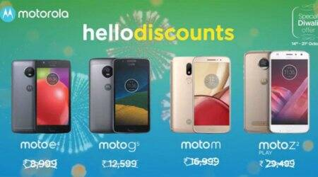 Motorola Diwali 2017 discounts on Moto Z2 Play, Moto M, Moto G5 and Moto E4