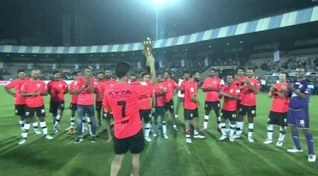 MS Dhoni steals the show in Celebrity Clasico, see videos of his goals, pics and more