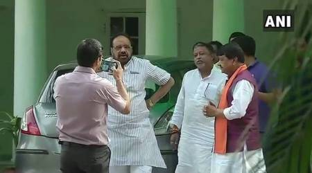 Ahead of quitting Rajya Sabha, Mukul Roy meets BJP's Kailash Vijayvargiya