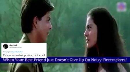 Mumbai Police's 'Kuch Kuch Hota Hai' GIF for a pollution-free Diwali fails to impress Twitterati