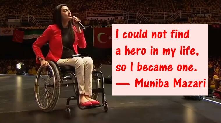 VIDEO: 'Paralysed' Pakistani motivational speaker Muniba Mazari's words  will leave you inspired | Trending News,The Indian Express