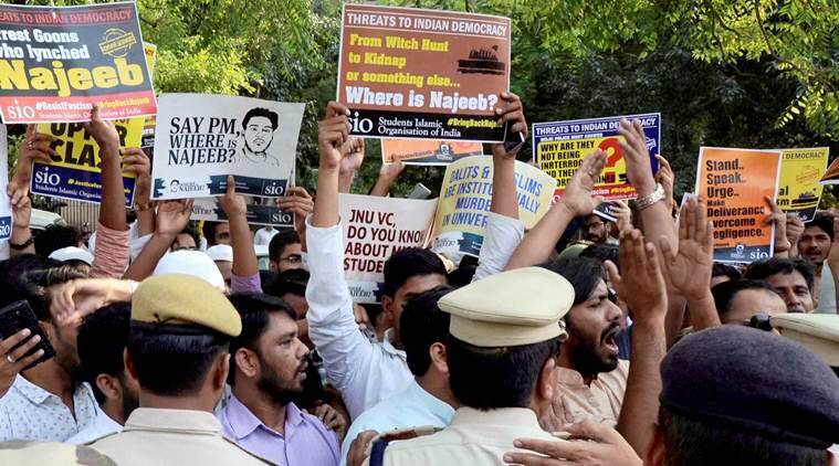 Najeeb ahmed, Najeeb ahmed missing, JNU missing student, Jawaharlal Nehru University, JNU, delhi news, india news, indian express news