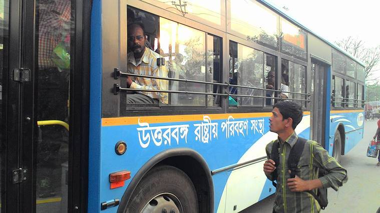 NBSTC, North Bengal state buses, Kolkata Siliguri bus services, NBSTC bus app, NBSTC app, Cooch Behar-Kolkata buses, Siliguri-Kolkata buses, bengal news, indian express news