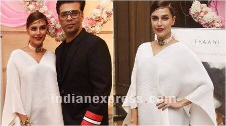 Neha Dhupia gives a new twist to the humble kaftan and how!