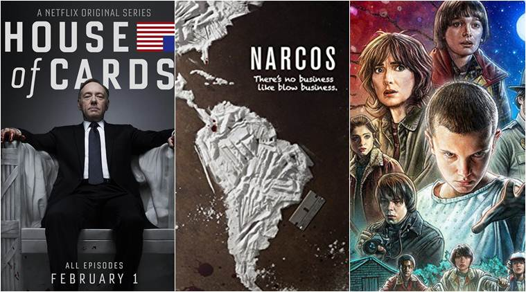 stranger things, narcos, 13 reasons why, orange is the new black, house of cards, netflix,