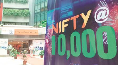 Nifty scales record level, Sensex at 2-month high