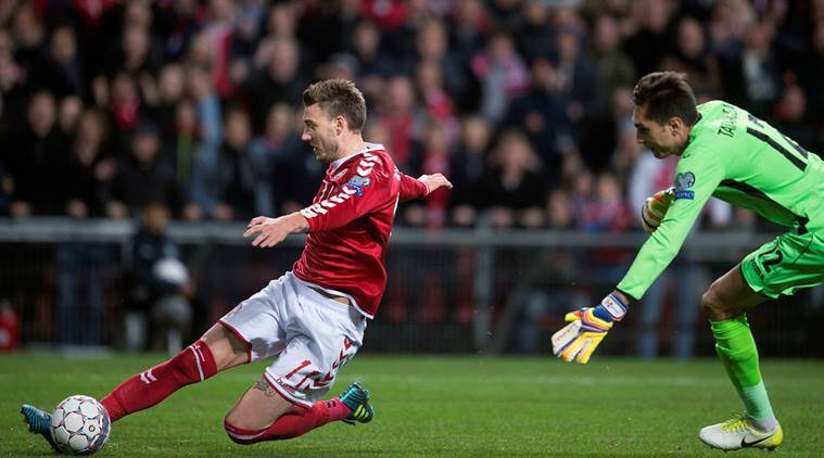 Nicklas Bendtner, Denmark, Group E, Romania, World Cup qualifier, sports news, football, Indian Express