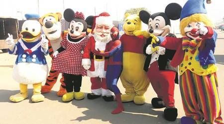 Spiderman, Mickey Mouse, Minions: A 21-year-old lives life mascot-size