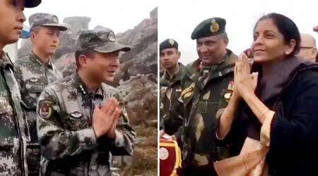 China, India-china relations, Nirmala Sitharaman, Sitharaman Nathu la visit, Sitharaman chinese army, chinese army, world news, indian express news