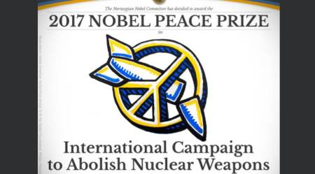 Nobel Peace Prize, 2017 Nobel Peace Prize, what is ICAN, International Campaign to Abolish Nuclear Weapons, what is International Campaign to Abolish Nuclear Weapons, indian express