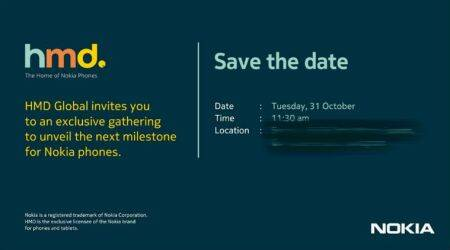 HMD Global sends invite for October 31 event, could launch Nokia 7 in India