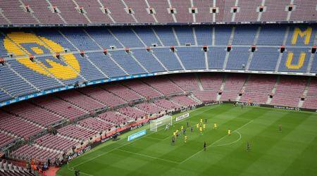 Barcelona match played behind closed doors after voteclashes