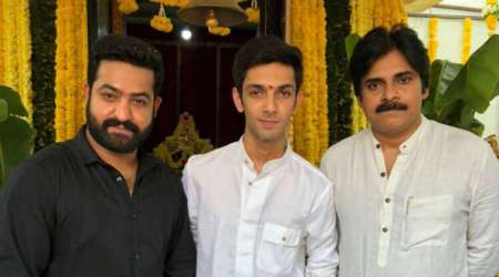 NTR 28: Pawan Kalyan attends Jr NTR's next film launch