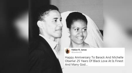 Michelle Obama's message for Barack Obama on their 25th marriage anniversary will melt your heart